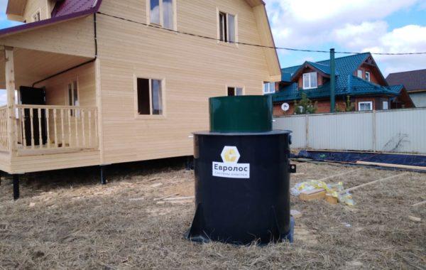 Монтаж станции Евролос Био 4+ в Одинцовском районе